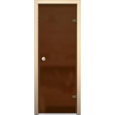 Дверь стеклянная для бани/сауны «Кноб Е»