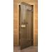 Дверь стеклянная для бани/сауны «Дерево»
