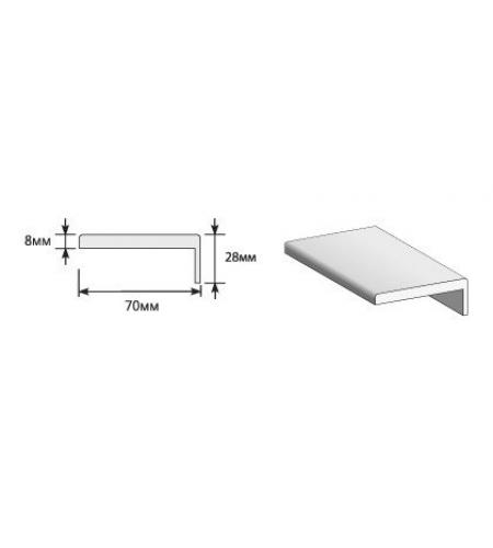 """Наличник """"Т"""" Тип-0 2150*70*8 (20*3)  Graphite Pro/Super White (для стальных дверей) Porta S"""