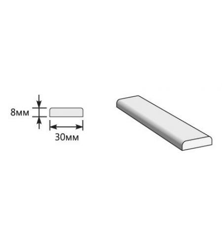 Притворная планка 2000*30*8  Graphite Pro/Super White (для стальных дверей) Porta S