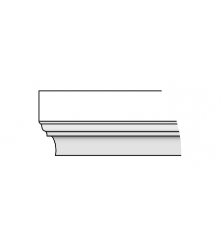 Карниз Тип-8 88 см  Graphite Pro/Super White (для стальных дверей) Porta S