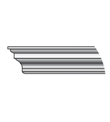Карниз Тип-1 80 см  Silver Ash (порталы в сборе)
