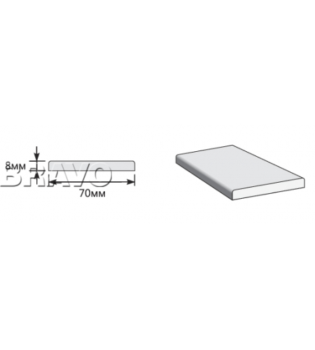 Наличник Прямоугольный 2150*70*8  Gris Beton (Модерн)
