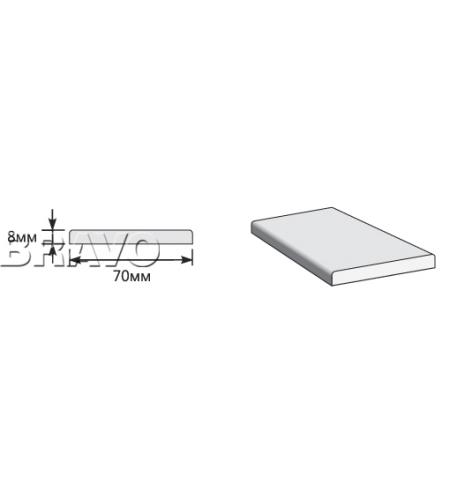 Наличник Прямоугольный 2150*70*8  Ash White (Модерн)