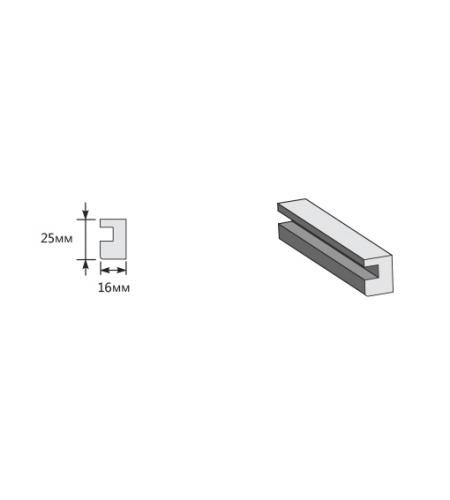 Опорный элемент 2050*25*16  Almon 28/Wenge Veralinga (для стальных дверей) Porta M