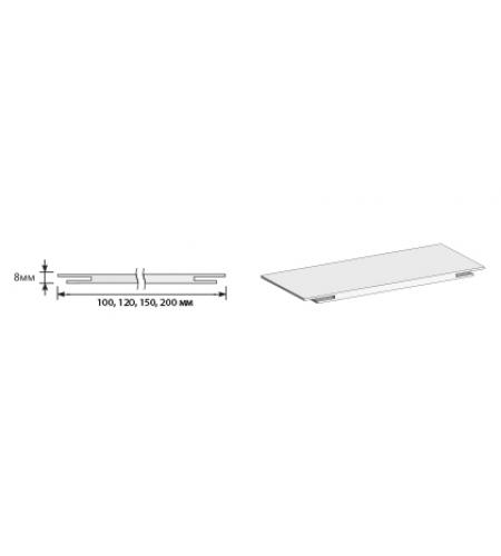 "Добор ""Т"" 2070*150*8  Graphite Pro/Super White (для стальных дверей) Porta S"