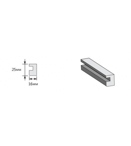 Опорный элемент 2050*25*16  Brownie/Nord Skyline (для стальных дверей) Porta M