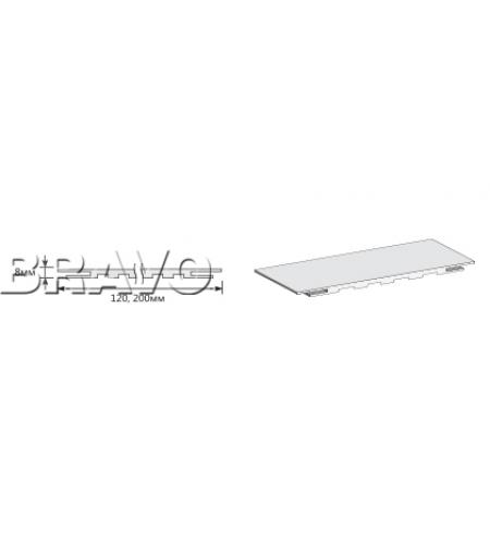 "Добор ""Т"" 2070*200*8  Graphite Pro/Super White (для стальных дверей) Porta S"