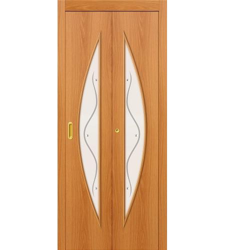 Складные двери  Дверь складная межкомнатная ламинированная 5Ф  МиланОрех