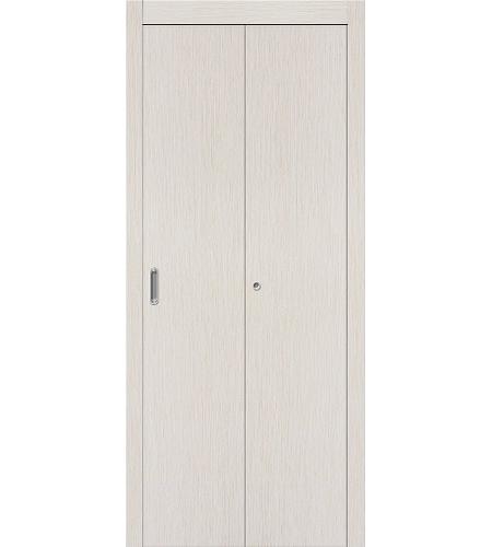 Складные двери  Дверь складная межкомнатная ламинированная Гост  Л-21 (БелДуб)