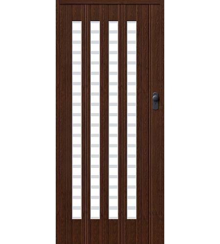 Складные двери  Браво-011  Темный дуб