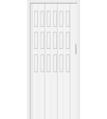 Складные двери  Браво-018  Белый глянец