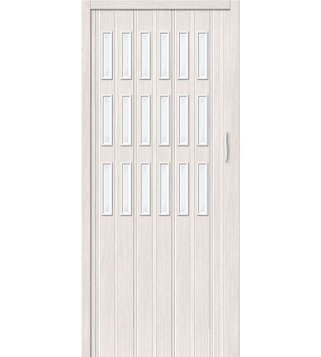 Складные двери  Браво-018  Белый Дуб