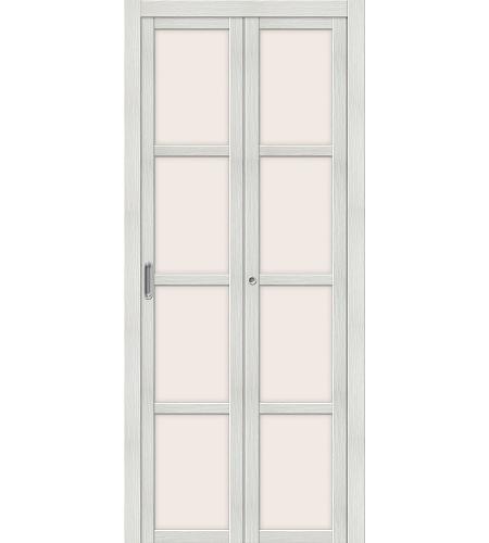 Складные двери  Дверь складная «Твигги V4»  Bianco Veralinga
