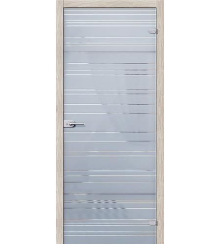Межкомнатные двери  Стеклянная дверь межкомнатная «Грация»  Белое Сатинато