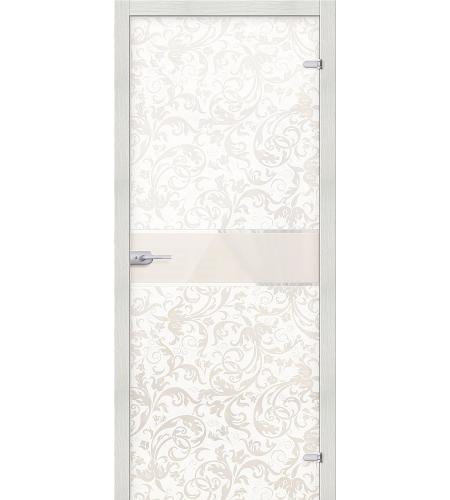 Межкомнатные двери  Стеклянная дверь межкомнатная «Флори »  Белый