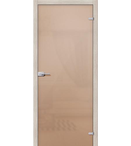 Межкомнатные двери  Стеклянная дверь межкомнатная «Лайт»  Бронза Сатинато