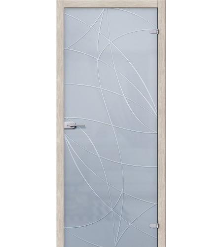 Межкомнатные двери  Стеклянная дверь межкомнатная «Аврора»  Белое Сатинато