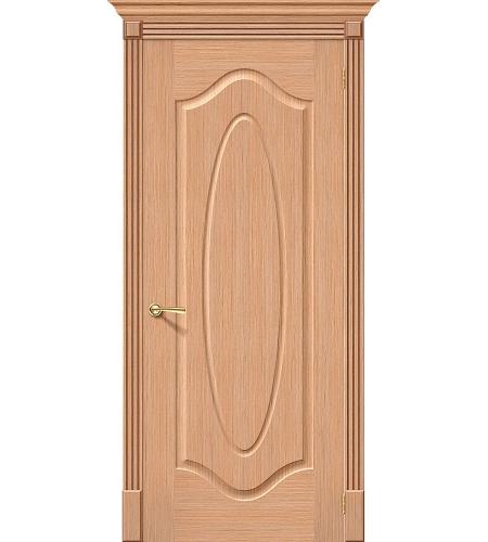 Межкомнатные двери  Дверь межкомнатная шпонированная «Аура»  Ф-01 (Дуб)
