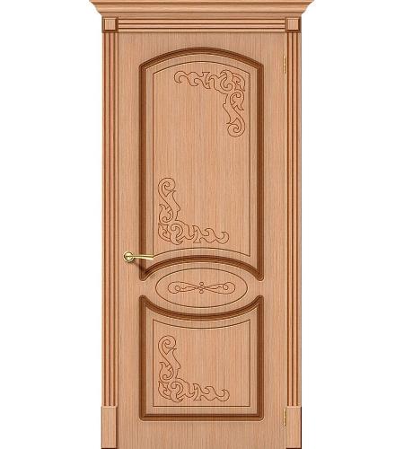 Межкомнатные двери  Дверь межкомнатная шпонированная «Азалия»  Ф-01 (Дуб)
