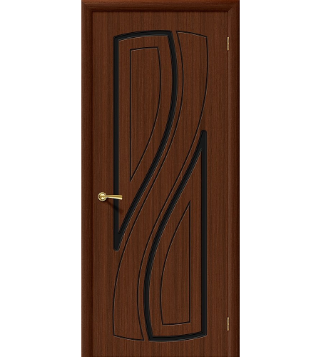 Межкомнатные двери  Дверь межкомнатная шпонированная «Лагуна»  Ф-17 (Шоколад)