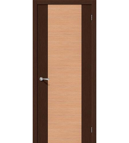 Межкомнатные двери  Дверь межкомнатная шпонированная «Этюд»  Ф-27 (Венге)/Ф-01 (Дуб)