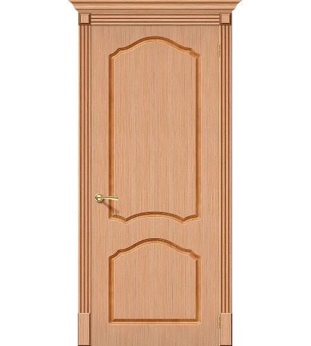 Межкомнатные двери  Дверь межкомнатная шпонированная «Каролина»  Ф-01 (Дуб)