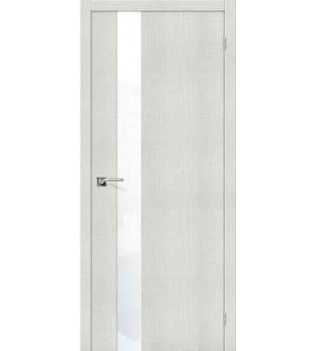 Межкомнатные двери  Порта-51 WW  Bianco Crosscut