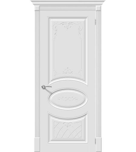 Межкомнатные двери  Межкомнатная дверь эмаль «Скинни-20 Art »  Whitey