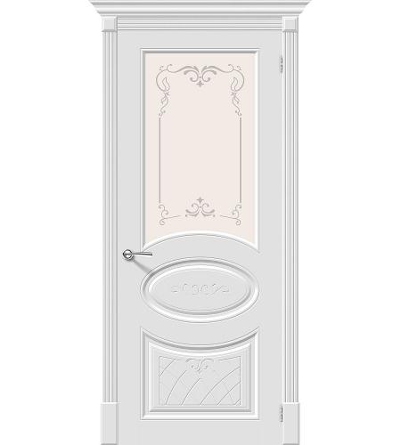 Межкомнатные двери  Межкомнатная дверь эмаль «Скинни-21 Аrt »  Whitey