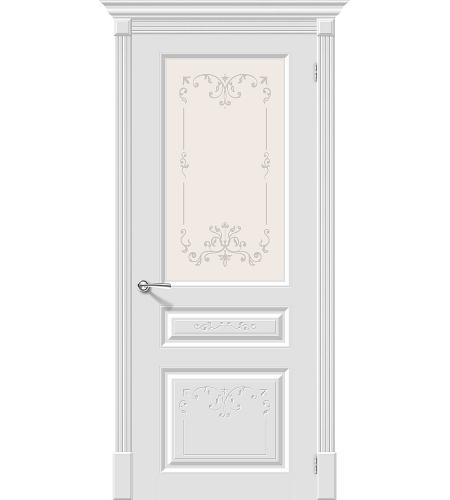 Межкомнатные двери  Межкомнатная дверь эмаль «Скинни-15.1 Аrt »  Whitey