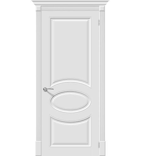 Межкомнатные двери  Межкомнатная дверь эмаль «Скинни-20 »  Whitey