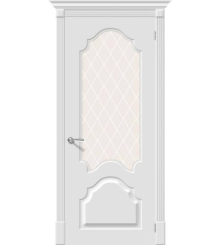 Межкомнатные двери  Межкомнатная дверь эмаль «Скинни-33 »  Whitey