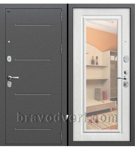 Входные двери  Р2-216  Антик Серебро/П-25 (Беленый Дуб)