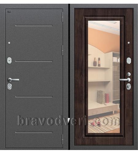 Входные двери  Р2-216  Антик Серебро/П-28 (Темная Вишня)