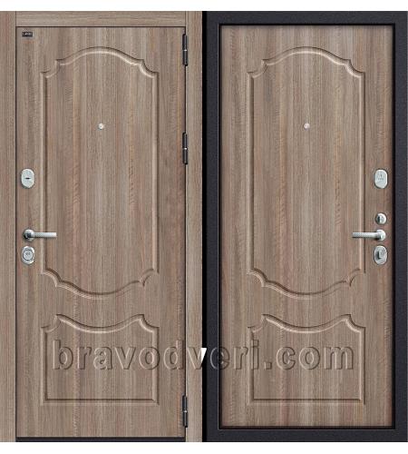 Входные двери  Р2-216  П-1 (Темный Орех)/П-1 (Темный Орех)