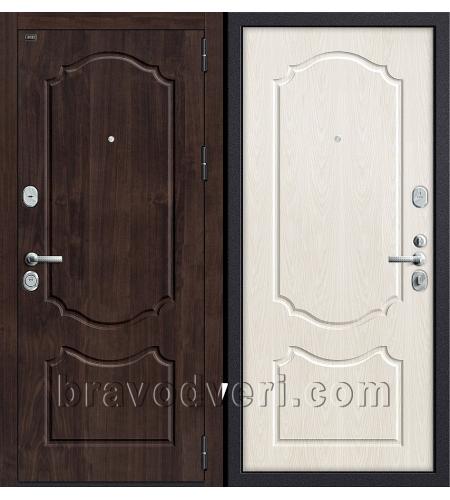 Входные двери  Р3-310  П-28 (Темная Вишня)/П-25 (Беленый Дуб)