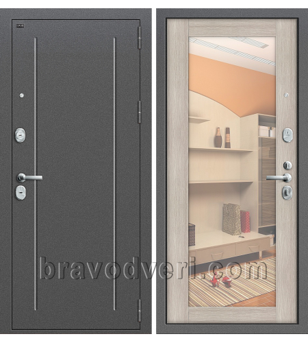 Входные двери  T2-220  Антик Серебро/Cappuccino Veralinga