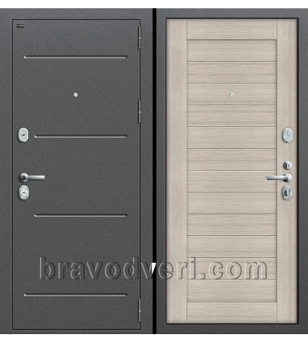 Входные двери  T2-221  Антик Серебро/Cappuccino Veralinga