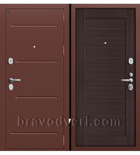 Входные двери  T2-221  Антик Медь/Wenge Veralinga