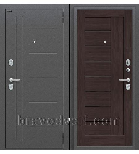 Входные двери  Проф  Антик Серебро/Wenge Veralinga