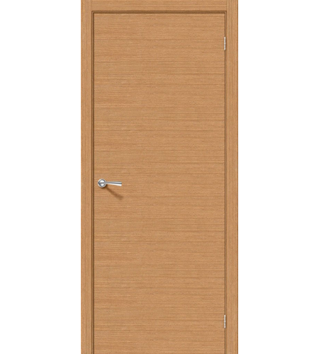 Межкомнатные двери  Дверь межкомнатная шпонированная «Соло-0.H»  Ф-01 (Дуб)
