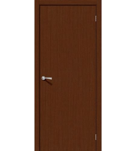 Межкомнатные двери  Дверь межкомнатная шпонированная «Соло-0.V»  Ф-17 (Шоколад)