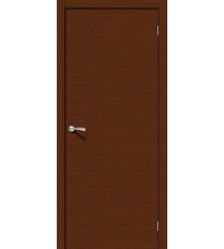 Межкомнатные двери  Дверь межкомнатная шпонированная «Соло-0.H»  Ф-17 (Шоколад)